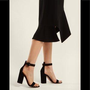 Gianvito Rossi Sandal Ankle Strap Black Block Heel
